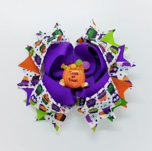Halloween Trick or Treat Hair Bow